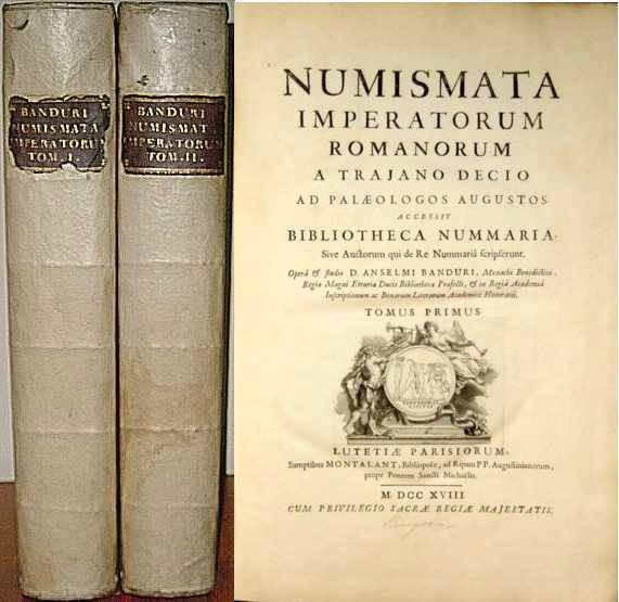 Ancient Coins - NUMISMATA IMPERATORUM ROMANORUM A TRAJANO DECIO AD PALAEOLOGUS AUGUSTOS, ACCESSIT BIBLIOTHECA NUMMARIA, SIVE AUCTORUM QUE DE RE NUMMARIA SCRIPSERUNT