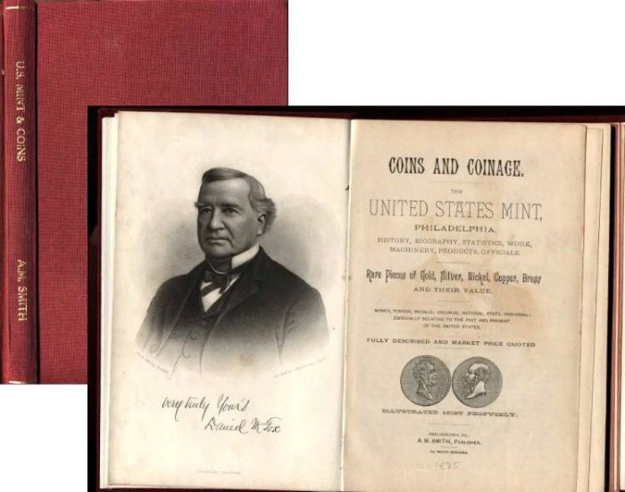 Ancient Coins - UNITED STATES MINT, PHILADELPHIA. A. M. SMITH, 1885