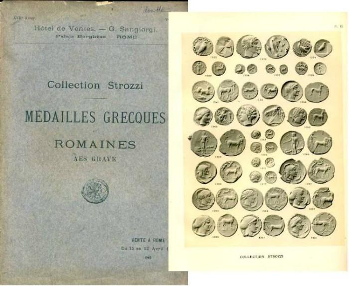 Ancient Coins - Sangiorgi: Collection Strozzi. Medailles Grecques et Romaines. Aes Grave. 1907