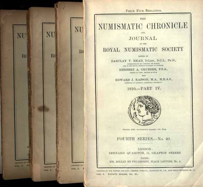 Ancient Coins - NUMISMATIC CHRONICLE 1910