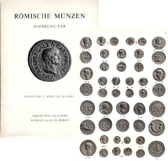Ancient Coins - Hess Sale E. S. R.,  Roman Coins