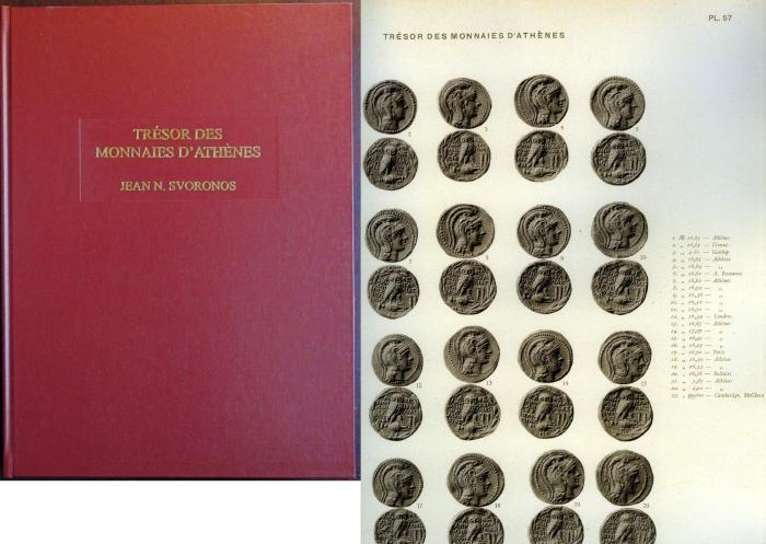 Ancient Coins - Svoronos: Les Monnaies d'Athens. Tresor de la numismatique grecque ancienne,