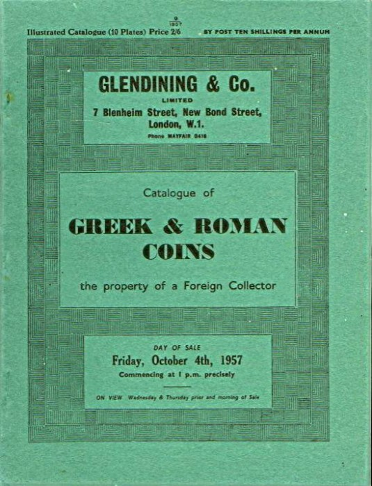 Ancient Coins - Glendinings: Catalogue of Greek and Roman Coins. The Property of a Foreign Collector