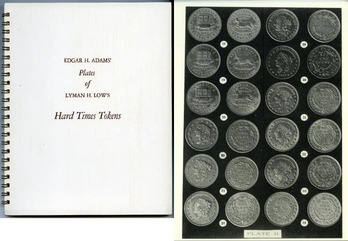 Ancient Coins - Adams, Edgar: Plates for Lyman Low's Hard Times Tokens