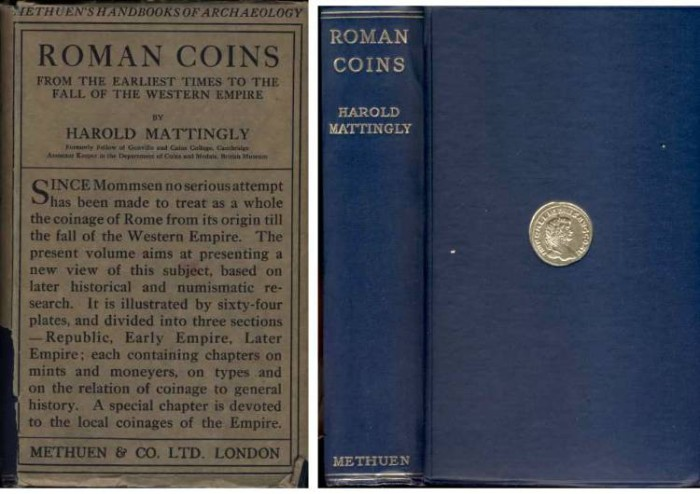 Ancient Coins - Mattingly : Roman Coins from the Earliest Times to the Fall of the Western Empire