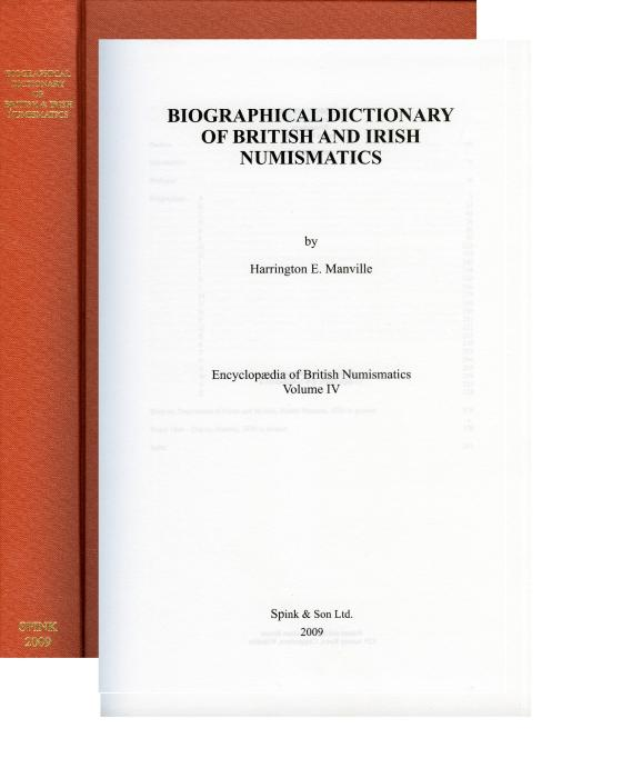 World Coins - Manville: 4. Biographical Dictionary of British and Irish Numismatics