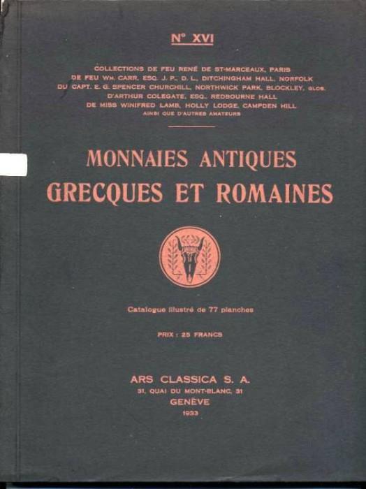 Ancient Coins - ARS CLASSICA XVI. CATALOGUE DE MONNAIES GRECQUES ET ROMAINES