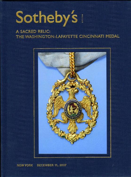 US Coins - Sotheby's: Sacred Relic: The Washington-Lafayette Cincinnati Medal