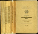 Us Coins - A.N.S.: Proceedings of the American Numismatic Society 1923-47, 14 different