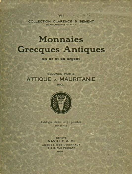 Ancient Coins - ARS CLASSICA VII. CATALOGUE DE MONNAIES GRECQUES ANTIQUES. Clarence Bement