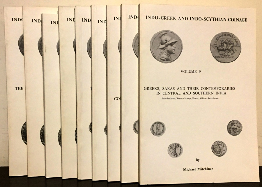 Ancient Coins - Mitchiner: Indo-Greek and Indo-Scythian Coinage. 9 Volumes