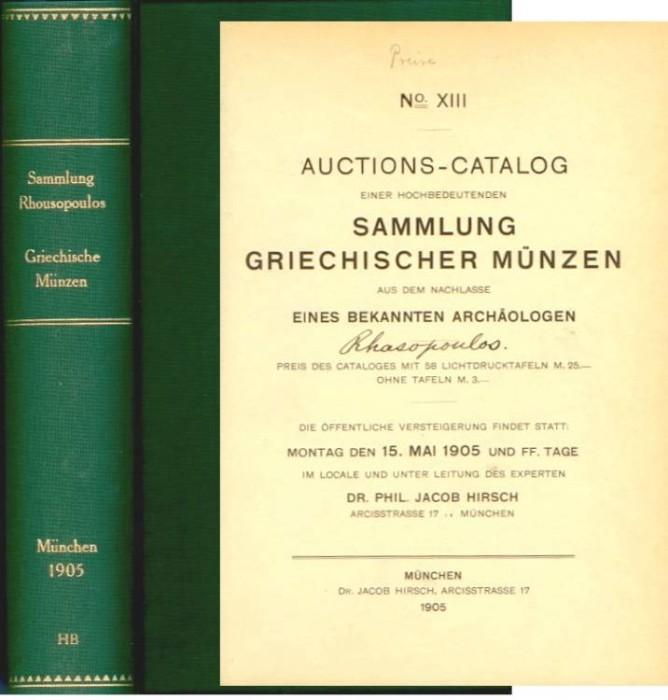 Hirsch 13 Sammlung Griechischer Munzen Rhousopoulos