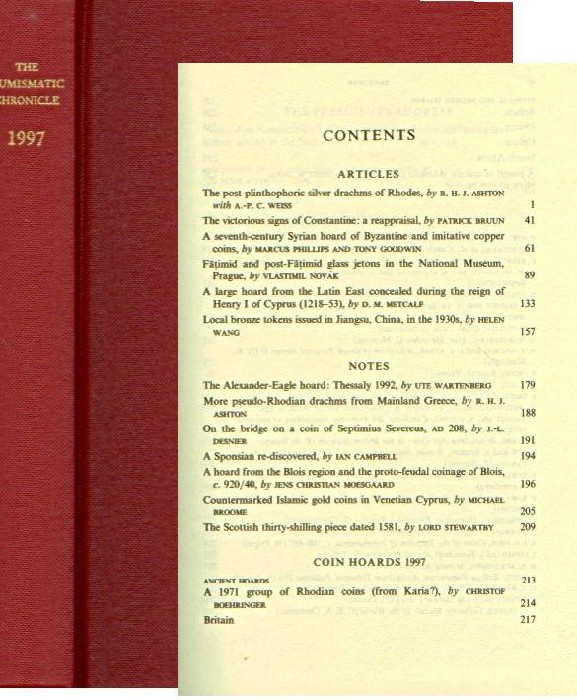 Ancient Coins - Numismatic Chronicle 1997