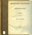 World Coins - Rollin et Feuardent: Monnaies Royales et Seigneuriales de France. Planches, 1891