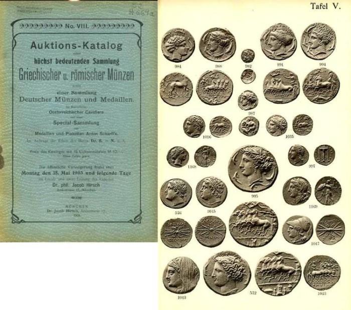 Ancient Coins - Hirsch  8. Auctions-Catalog. Griechischer und Romischer Munzen