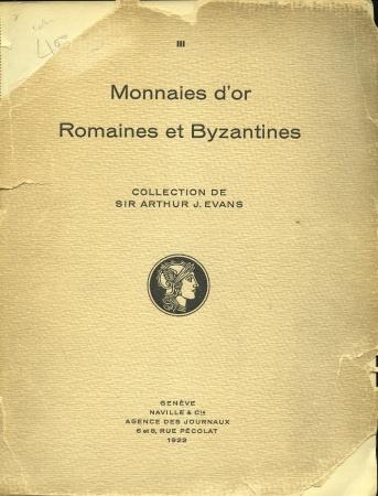 Ancient Coins - Ars Classica III, Monnaies d'or Romaines et Byzantines. Collection Arthur J. Evans,