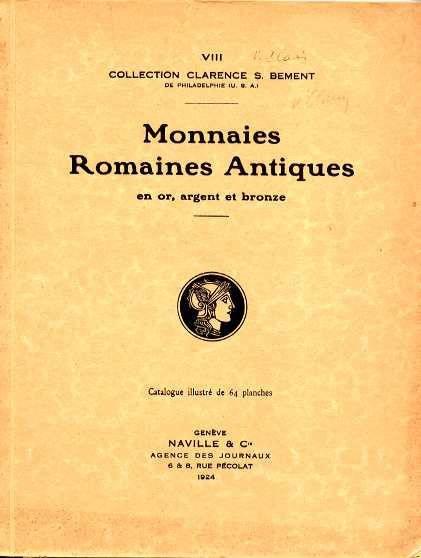 Ancient Coins - ARS CLASSICA VIII. COLLECTION CLARENCE BEMENT. MONNAIES ROMAINES ANTIQUES EN OR, ARGENT, ET BRONZE.