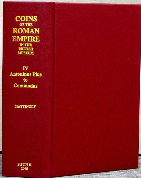 Ancient Coins - Mattingly: Coins of the Roman Empire in the British Museum. Volume 4