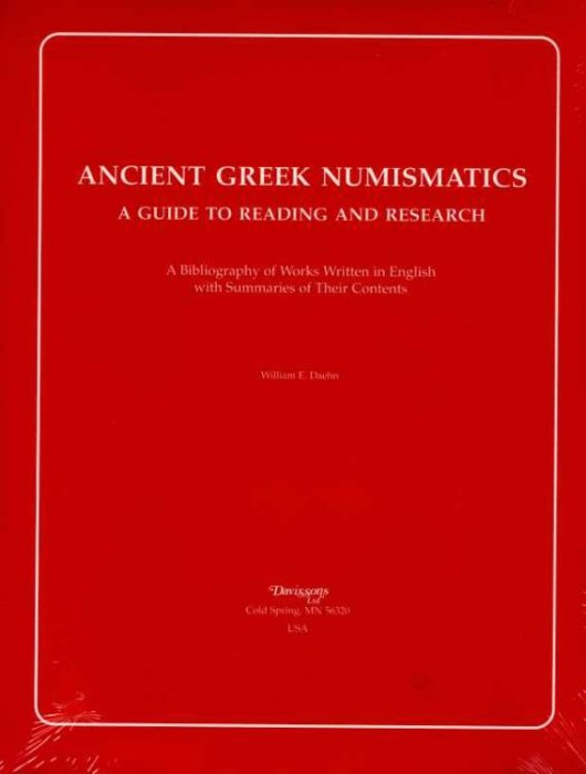 Ancient Coins - Daehn: ANCIENT GREEK NUMISMATICS. A GUIDE TO READING AND RESEARCH.
