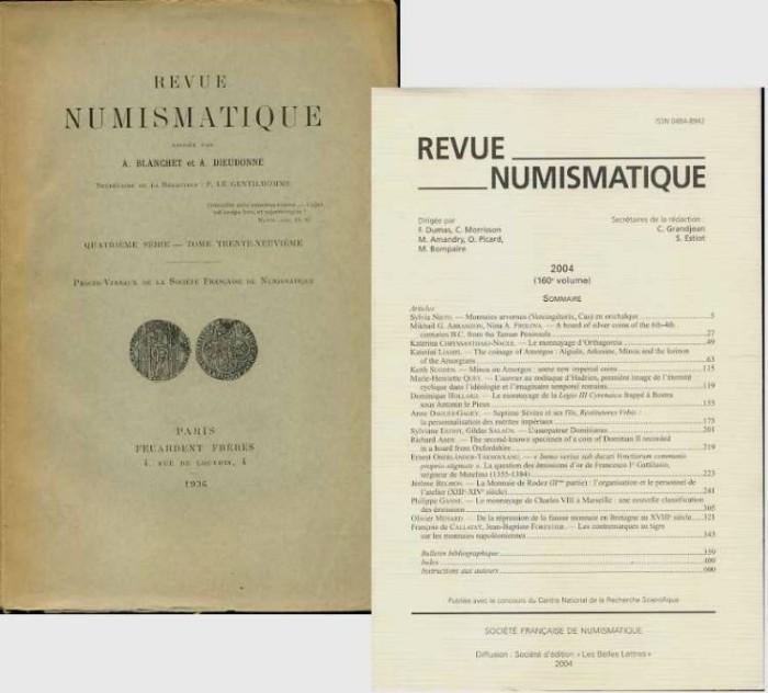 Ancient Coins - Revue Numismatique (French), 1936-2004