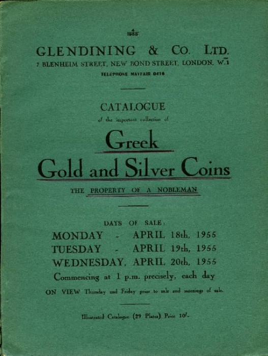 Ancient Coins - Glendining sale. Greek & Roman Coins, the Property of a Nobleman, 1955