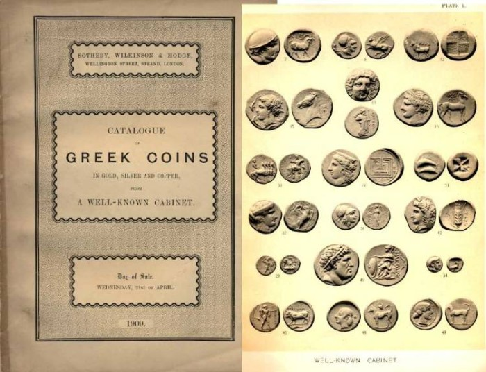 Ancient Coins - Sotheby's 1909 Sale of Greek Coins, G. W. MacClean