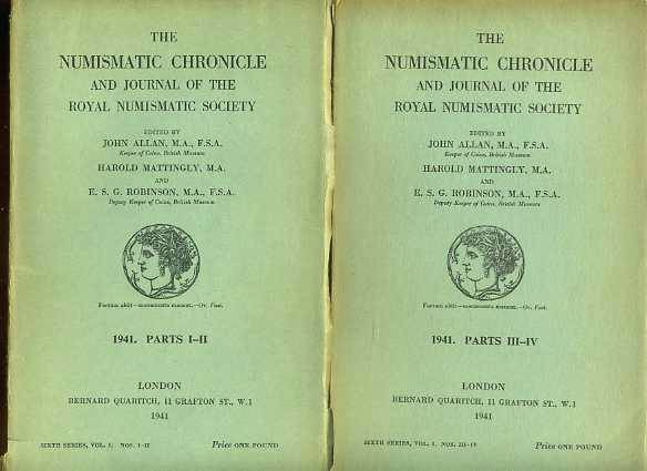 Ancient Coins - Numismatic Chronicle 1941