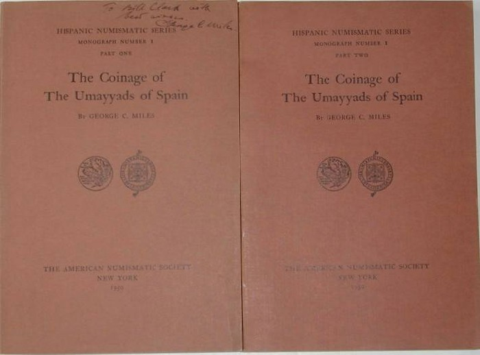 Ancient Coins - Miles: The Coinage of the Umayyads of Spain, 2 volumes