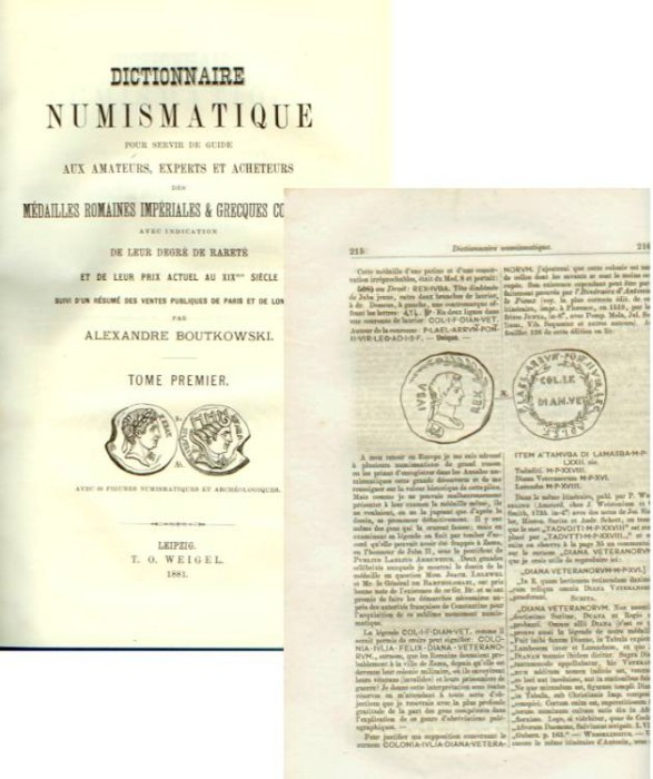Ancient Coins - Boutkowski: Dictionaire Numismatique. Medailles Romaines Imperiales & Grecques Coloniales