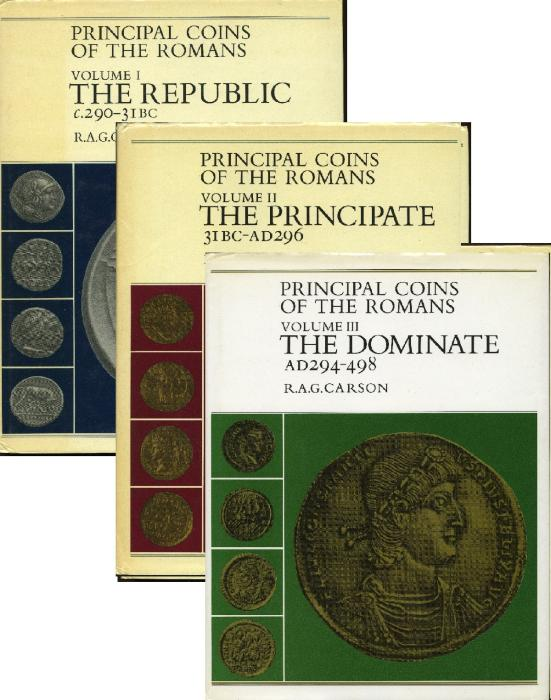Ancient Coins - Carson: Principal Coins of the Romans, 3 volumes