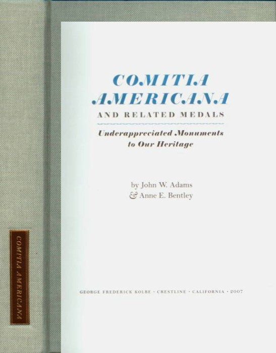 Ancient Coins - Adams & Bentley: Comitia Americana and Related Medals
