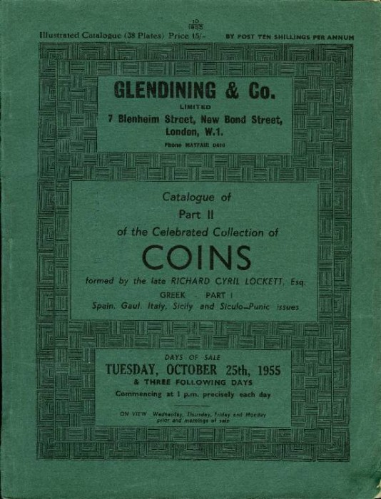 Ancient Coins - Glendinings:  Celebrated Collection of Coins Formed by the Late Cyril Lockett, Part 2. Greek 1