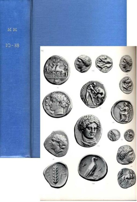 Ancient Coins - M&M AUCTIONS OF ANCIENTS , 8 DIFFERENT, 1951-1968 BOUND IN A SINGLE VOLUME