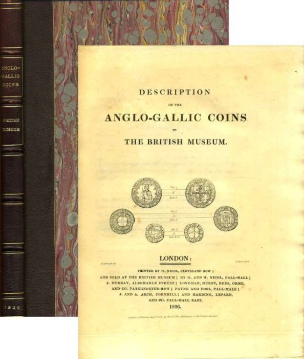 Ancient Coins - Hawkins: DESCRIPTION OF THE ANGLO-GALLIC COINS IN THE BRITISH MUSEUM, 1826