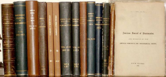 Ancient Coins - American Journal of Numismatics. Volume 1866-1920, 75% Complete