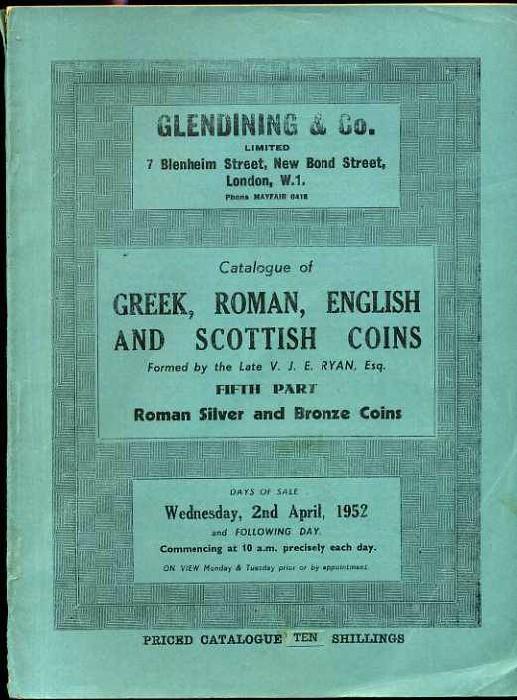 Ancient Coins - Glendining's Ryan Catalogue. Part 5. Roman Silver & Bronze