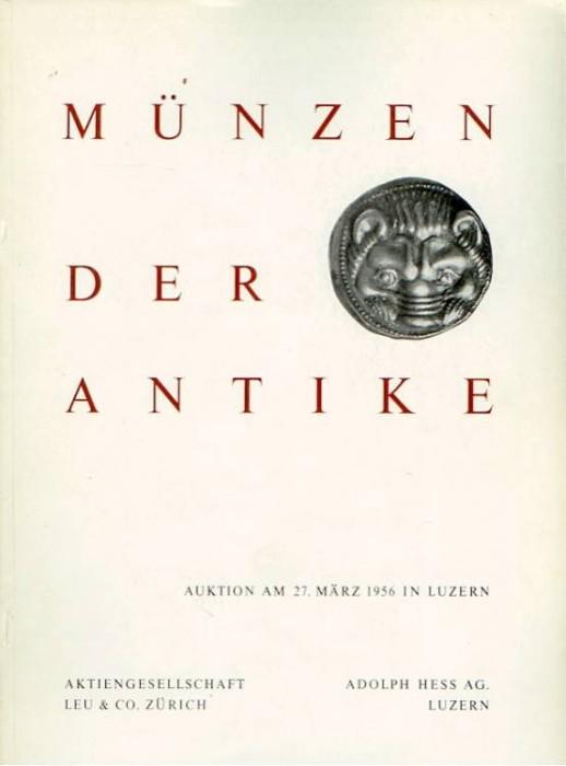 Ancient Coins - Hess-Leu Sale. Munzen der Antike, March 1956