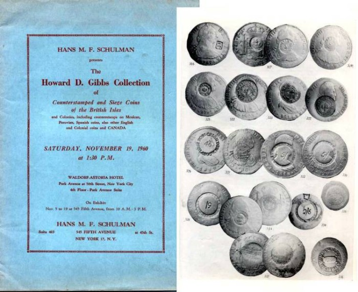 Ancient Coins - Howard Gibbs Collection of Counterstamped and Siege Coins of the British isles. 1960
