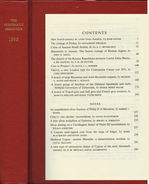 Ancient Coins - Numismatic Chronicle 1996