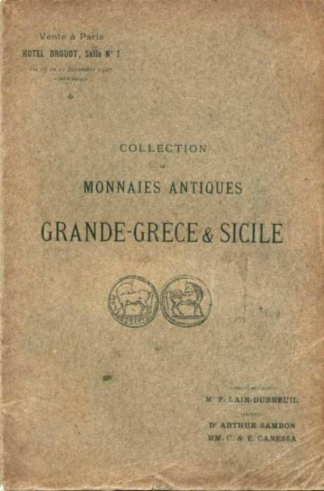 Ancient Coins - Sambon-Canessa, 1907, Monaies Antiques Grande-Grece & Sicile