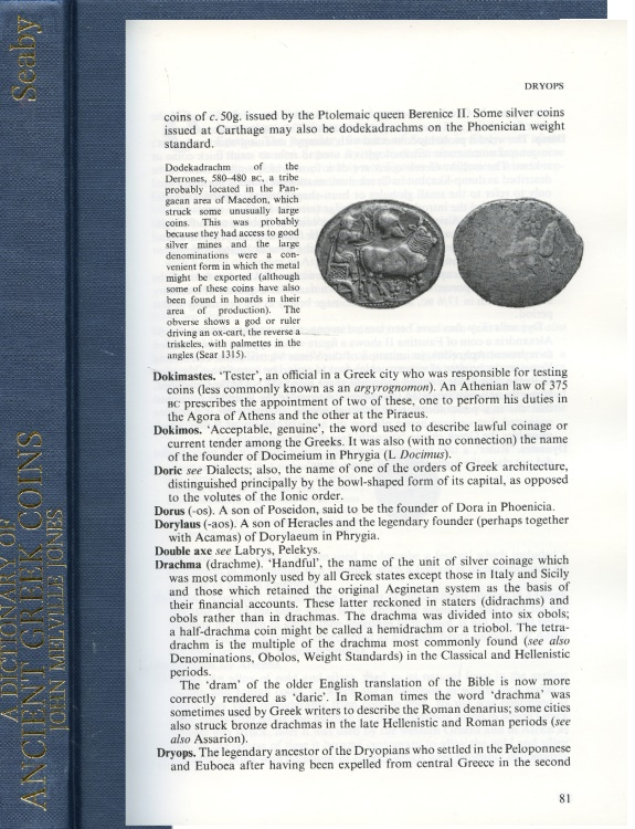 Ancient Coins - Melville Jones: Dictionary of Ancient Greek Coins