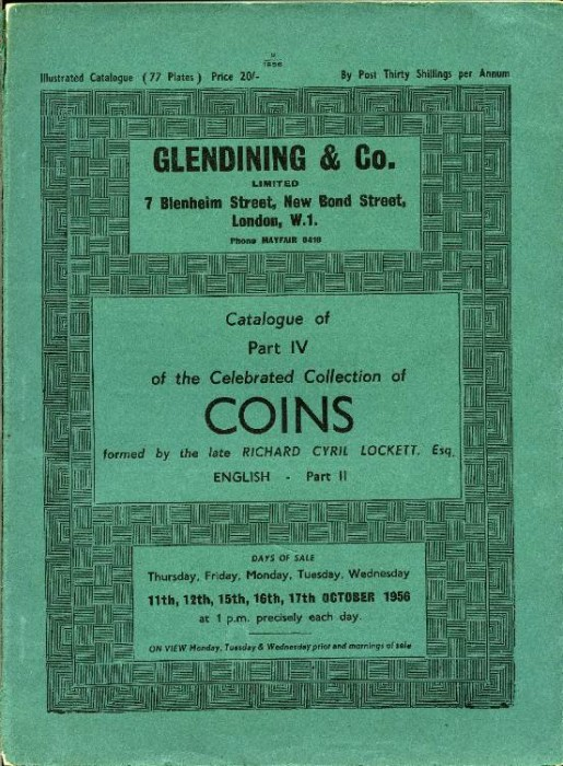 Ancient Coins - Glendinings:  Collection of Coins Formed by the Late Cyril Lockett, Part  4. (English 2)