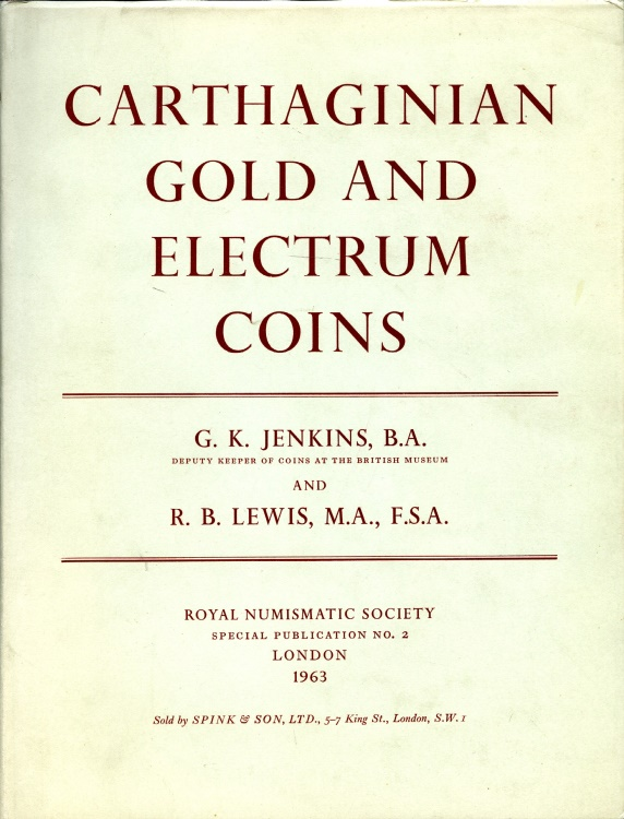 Ancient Coins - Jenkins & Lewis: Carthaginian Gold and Electrum Coins