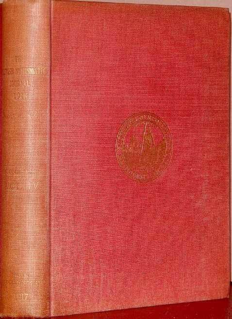 Ancient Coins - BRITISH NUMISMATIC JOURNAL 1918