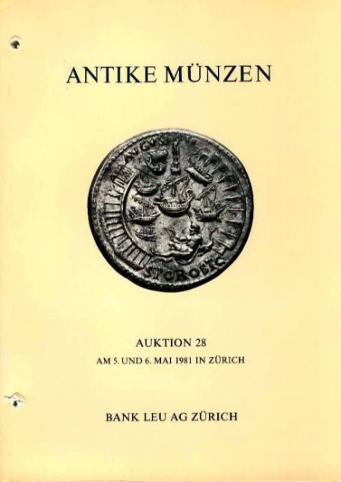 Ancient Coins - Bank Leu 28. ANTIKE MUNZEN. Celtic, Greek, Roman, Jewish