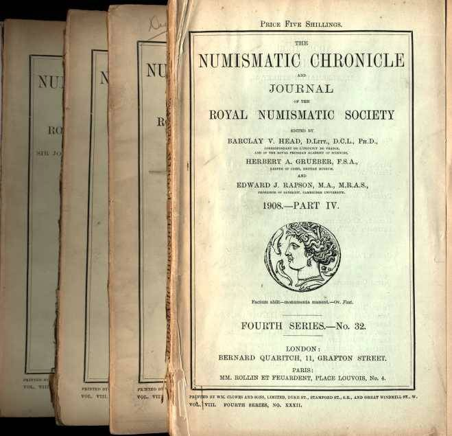 Ancient Coins - Numismatic Chronicle 1908