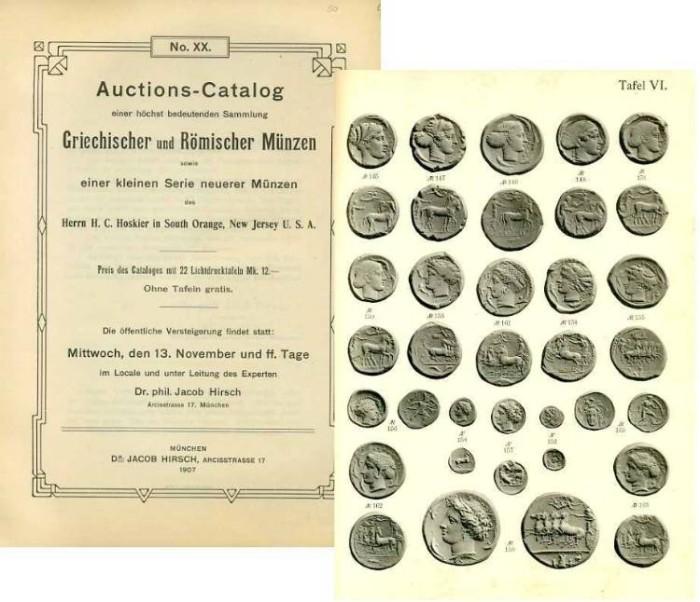 Ancient Coins - Hirsch 20. Griechischer und Romischer Munzen des Herrn H. C. Hoskier