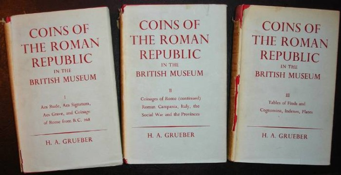 Ancient Coins - Grueber: Coins of the Roman Republic, 3 volumes reprint
