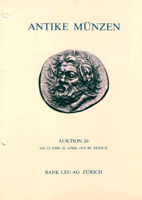 Ancient Coins - Bank Leu 20. ANTIKE MUNZEN. Greek, Roman