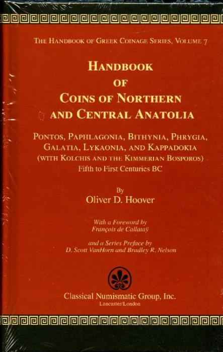 Ancient Coins - Hoover:  7. Handbook of Coins of Northern & Central Anatolia